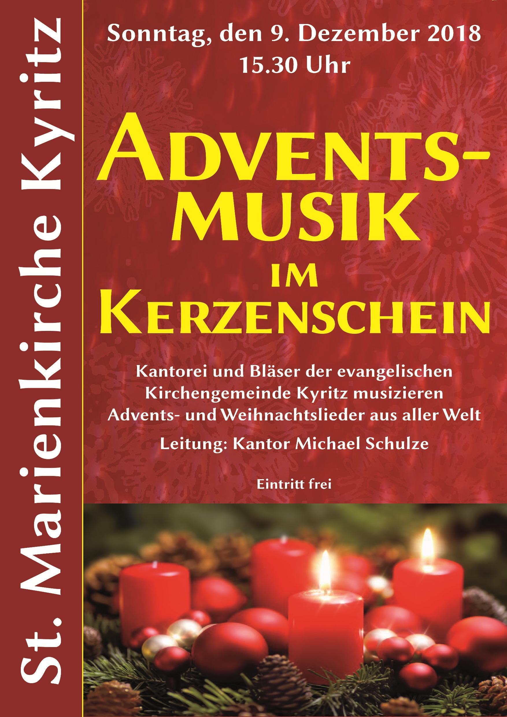 Kyritzer Kirchenmusiken » Adventsmusik im Kerzenschein