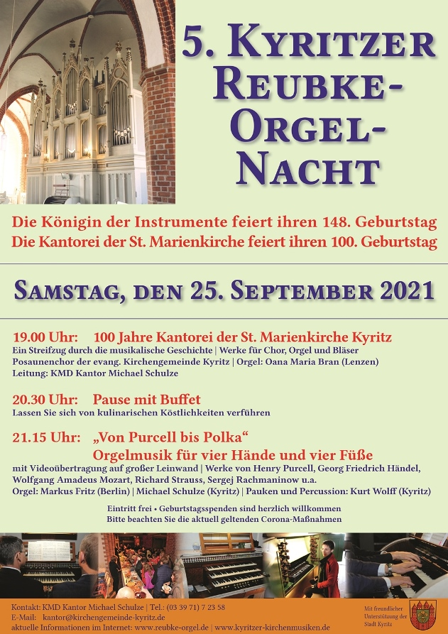 5. Kyritzer Reubke-Orgel-Nacht